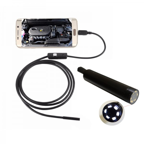 1,5m 8mm HD Android endoskop s LED